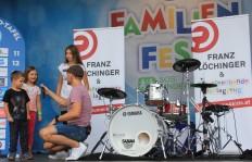 Franz Löchinger & das sprechende Schlagzeug / Nivea Familienfest 2017 Foto: Steiner Familyentertainment